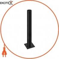 Опора стальная e.street.bollard.st.600.black, высота 600мм, диаметр 60мм, черная