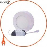 Светильник светодиодний накладной e.LED.MP.Round.S.6.4500. круг, 6Вт, 4500К, 420Лм