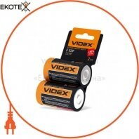 Videx Батарейка солевая Videx R2OP/D 2pcs shrink card 24 шт/уп