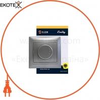 Светорегулятор 600Вт Emily 9215 серый металлик ELCOR