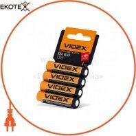 Videx Батарейка солевая Videx R03P/AAA 4pcs shrink card 60 шт/уп
