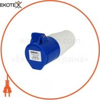Розетка силовая переносная ENERGIO 213(2P+PE) 16A 220В IP44