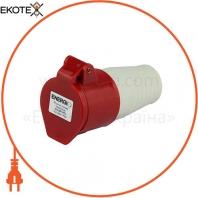Розетка силовая переносная ENERGIO 214(3P+PE) 16A 380В IP44