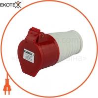 Розетка силовая переносная ENERGIO 215(3P+PE+N) 16A 380В IP44