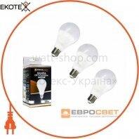 Набор из 3шт Лампа светодиодная ЕВРОСВЕТ 18Вт 4200К A-18-4200-27  Е27