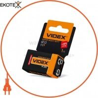 Videx Батарейка солевая Videx 6F22/9V (Крона) 1pcs shrink card 24 шт/уп