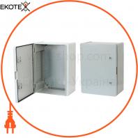Щит ERKA 023, 300x400x180 з монтажною панеллю, опалові двері IP 65