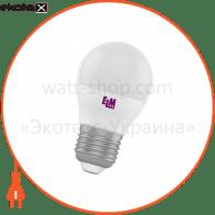 Лампа светодиодная шар PA10 4W E27 4000K алюмопласт. корп. 18-0085