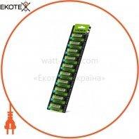 Videx Батарейка щелочная LR6/AA 10x1pcs отрывной blister card 100 шт/уп