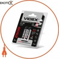 Аккумуляторы Videx HR6/AA 2500mAh double blister/2pcs 20 шт/уп
