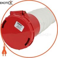 Розетка силовая переносная ENERGIO 234(3P+PE) 63A 380В IP44