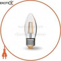 LED лампа VIDEX C37F 4W E27 4100K 220V