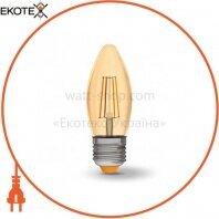 LED лампа VIDEX C37FA 4W E27 2200K 220V бронза
