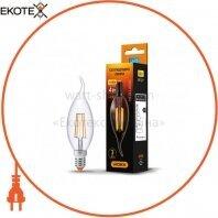 LED лампа VIDEX C37Ft 4W E14 4100K 220V