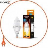 LED лампа VIDEX C37 7W E14 3000K 220V
