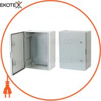 Щит ERKA 024, 400x500x210 з монтажною панеллю, опалові двері IP 65