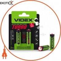 Videx 24238 videx батарейка щелочная lr6/aa turbo 2pcs blister (20/360)