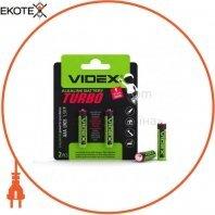 Videx 24239 videx батарейка щелочная lr03/aaa turbo 2pcs blister (20/360)