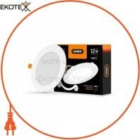LED светильник встраиваемый круглый VIDEX 12W 5000K 220V D3