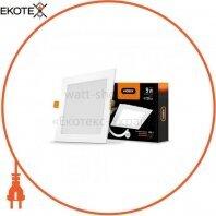 LED светильник встраиваемый квадрат VIDEX 9W 5000K 220V D3