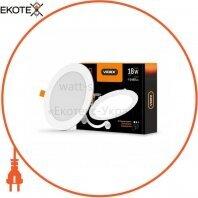 LED светильник встраиваемый круглый VIDEX 18W 5000K 220V D3