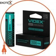 Videx 24450 аккумулятор videx li-ion 18650-p(защита) 3000mah color box/1pc 20 шт/уп