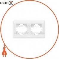 VIDEX BINERA Рамка белая 2 поста горизонтальная (VF-BNFR2H-W) (12/96)