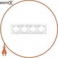 VIDEX BINERA Рамка белая 4 поста горизонтальная (VF-BNFR4H-W) (12/72)