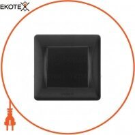 VIDEX BINERA Выключатель черный графит 1кл (VF-BNSW1-BG) (20/120)