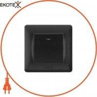VIDEX BINERA Выключатель черный графит 1кл с подсветкой (VF-BNSW1L-BG) (20/120)