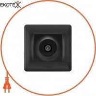 VIDEX BINERA Розетка черный графит TV одинарная телевизионная (VF-BNSK1TVME-BG) (20/120)