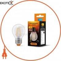 LED лампа VIDEX Filament G45FMD 4W E27 4100K 220V Диммируемая