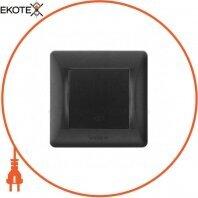 VIDEX BINERA Выключатель черный графит 1кл промежуточный (VF-BNSW1I-BG) (20/120)
