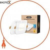 LED светильник встраиваемый квадрат VIDEX 3W 5000K