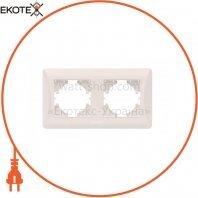 VIDEX BINERA Рамка кремовая 2 поста горизонтальная (VF-BNFR2H-CR) (12/96)