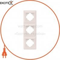 VIDEX BINERA Рамка кремовая 3 поста вертикальная (VF-BNFR3V-CR) (12/96)