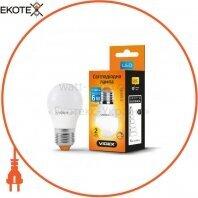 LED лампа VIDEX G45eD 6W E27 4100K 220V диммерная 20шт/ящ