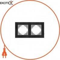 VIDEX BINERA Рамка черный алюминий 2 поста горизонтальная (VF-BNFRA2H-B) (13/156)