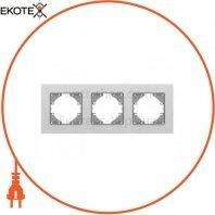VIDEX BINERA Рамка серебристый алюминий 3 поста горизонтальная (VF-BNFRA3H-SL) (13/104)