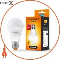 LED лампа VIDEX A60e 9W E27 4100K 12-48V 20шт/ящ