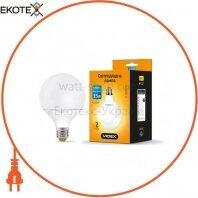 LED лампа VIDEX G95e 15W E27 4100K 220V 20шт/ящ