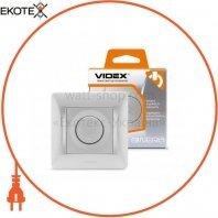 VIDEX BINERA Диммер 600Вт серебряный шёлк (VF-BNDM600-SS) (16/96)