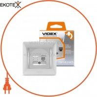 VIDEX BINERA Розетка CAT3 одинарная телефонная серебряный шёлк (VF-BNSK1TF3-SS) (20/120)