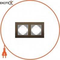 VIDEX BINERA Рамка шоколадный алюминий 2 поста горизонтальная (VF-BNFRA2H-CH) (6/48)