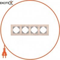 VIDEX BINERA Рамка медный алюминий 4 поста горизонтальная (VF-BNFRA4H-CP) (6/48)