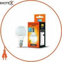 LED лампа VIDEX G45e 7W E14 3000K 220V 20шт/ящ