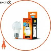 LED лампа VIDEX G45e 7W E27 3000K 220V 20шт/ящ