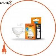 LED лампа VIDEX MR16еD 6W GU5.3 4100K 220V диммерная 20шт/ящ