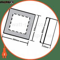 светодиодный светильник ledex, квадрат, накладной, 24w, 4000к, алюминий светодиодные светильники ledex Ledex 102223