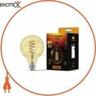 LED лампа VIDEX Filament G125FASD 5W E27 2200K 220V диммерная